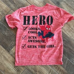 Marvel Boys Graphic Spider-Man Shirt size Large